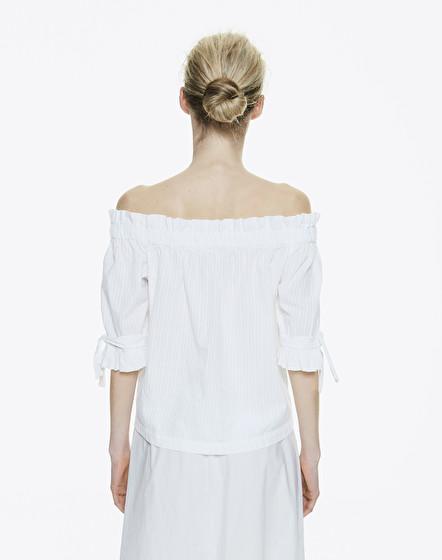 Блуза женская MANILA GRACE P9SC648CU.BIANCO OTTICO фото