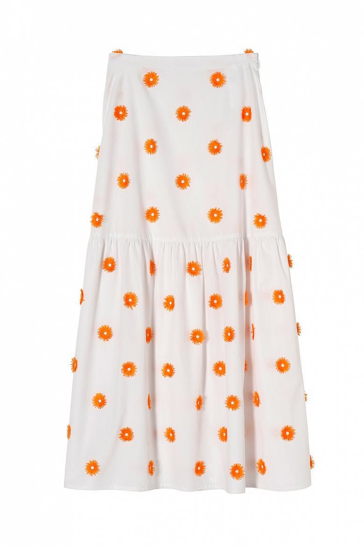 Женская расклешенная юбка-макси STEFANEL JG018D71992.2165 фото