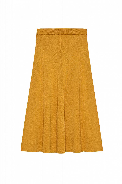 Женская однотонная юбка А-силуэта STEFANEL JG010DF1664.160 фото